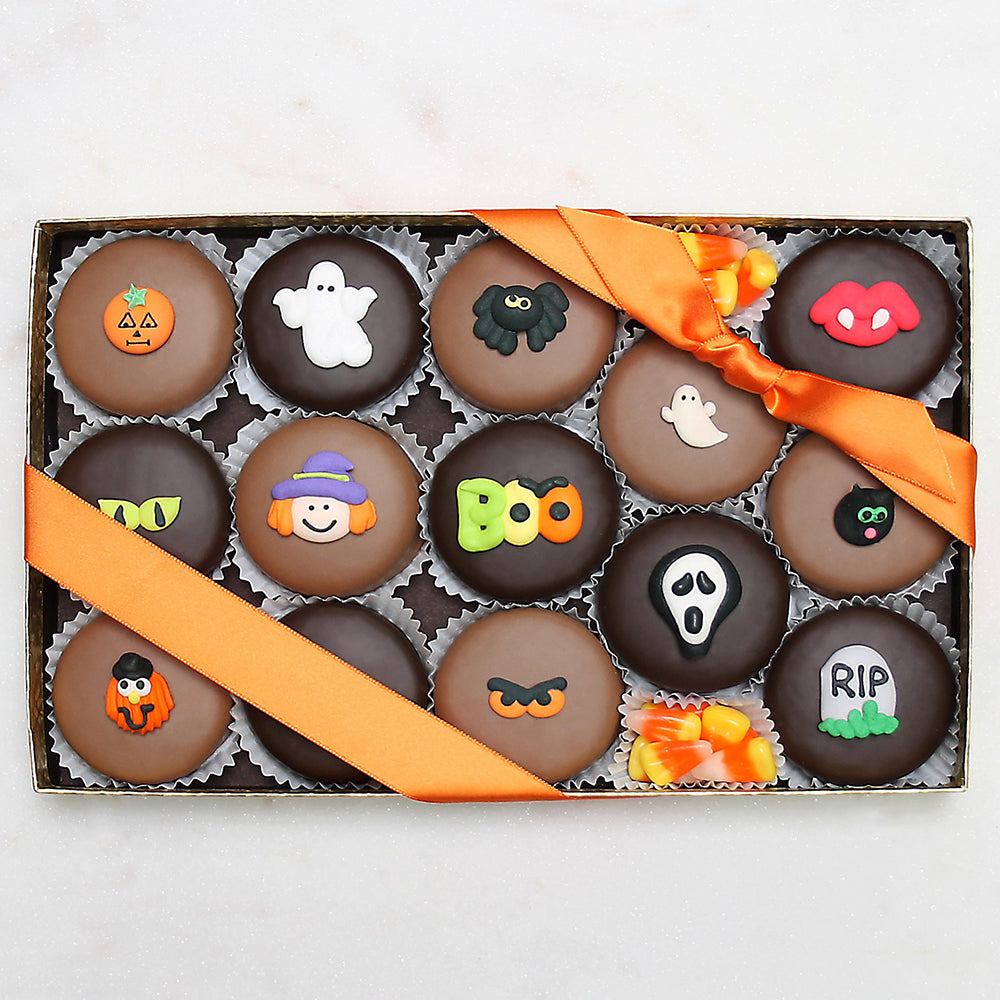 Gourmet Handmade Chocolate Halloween Oreos (Large) - Edelweiss Chocolates
