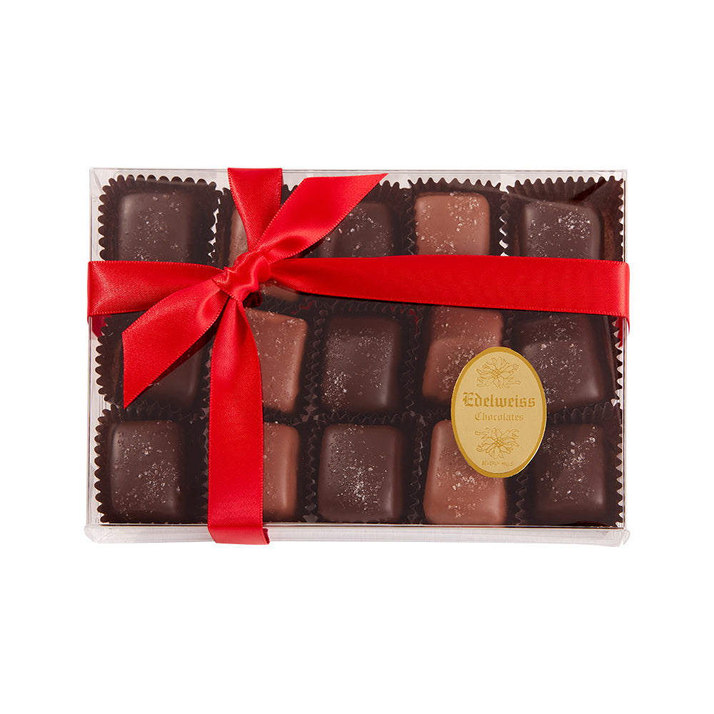 Chocolate Salted Caramels (15 Pieces) - Edelweiss Chocolates