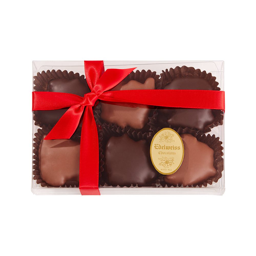 Chocolate Turtles Box (12 Pieces) - Edelweiss Chocolates