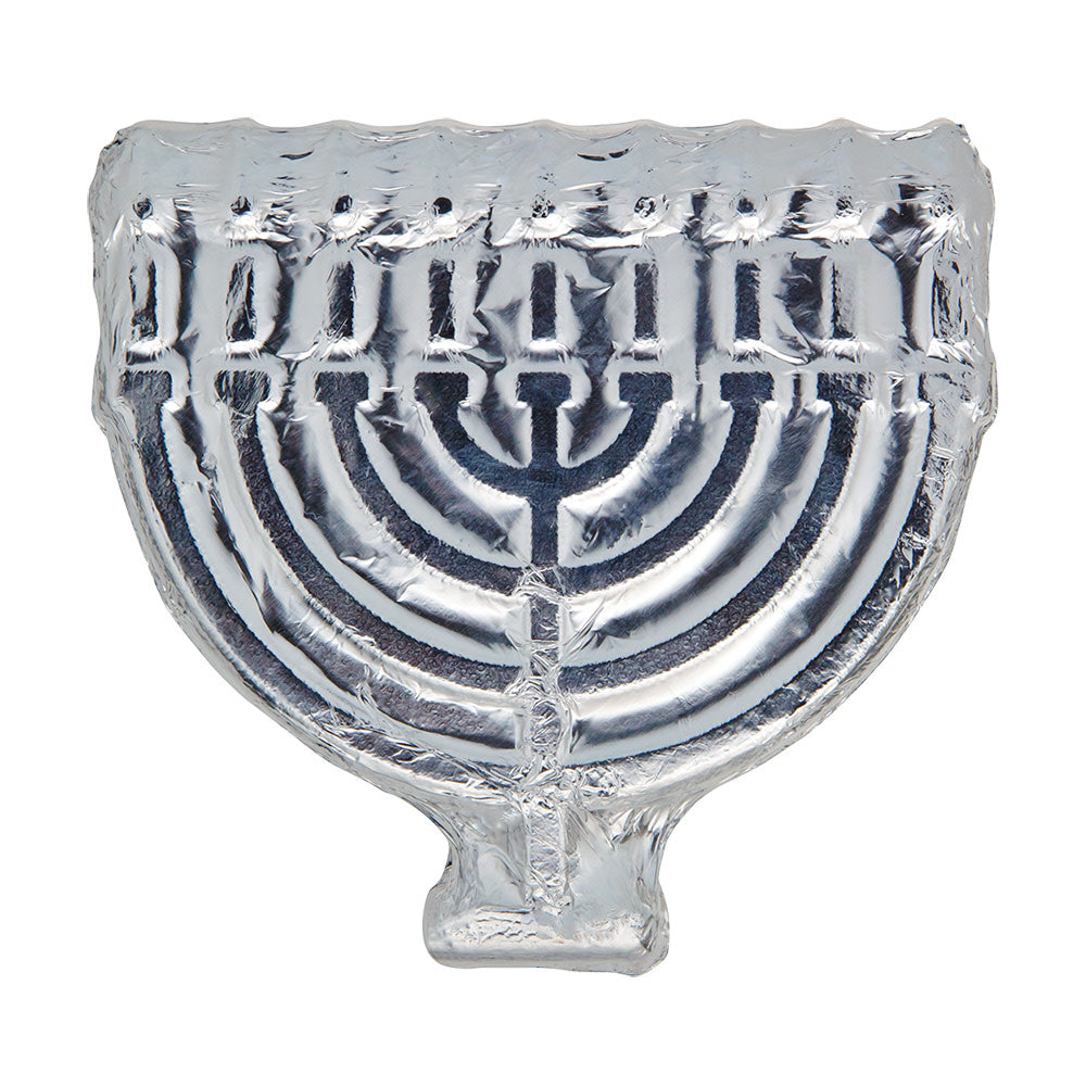 Hanukkah Menorah in milk chocolate
