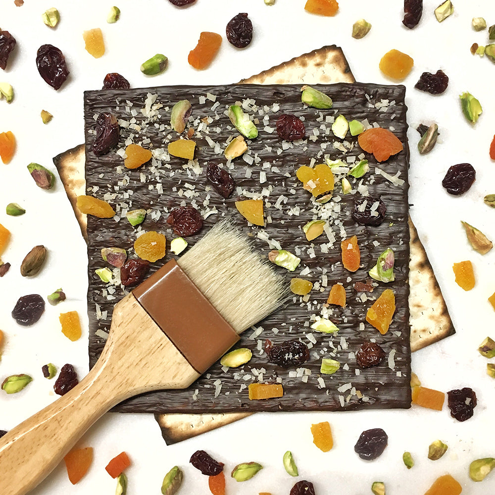 Chocolate Covered Matzah Sheets With Fruit And Nuts (Gluten Free) - Edelweiss Chocolates
