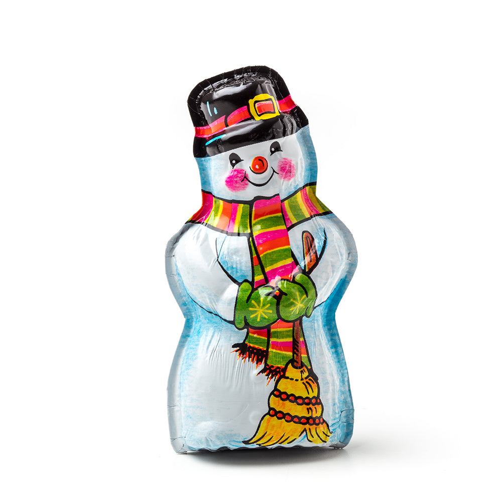 Foiled Gourmet Milk Chocolate Snowman - Edelweiss Chocolates