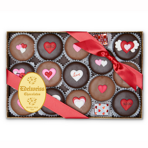 Gourmet Handmade Chocolate Oreos For Valentine's Day (Large) - Edelweiss Chocolates Gourmet Premium Milk Dark Chocolate Gift Los Angeles Beverly Hills Handmade Handcrafted Candy