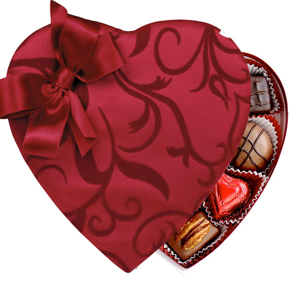 Passion Ivy Heart Box (8oz) - Edelweiss Chocolates Gourmet Premium Milk Dark Chocolate Gift Los Angeles Beverly Hills Handmade Handcrafted Candy