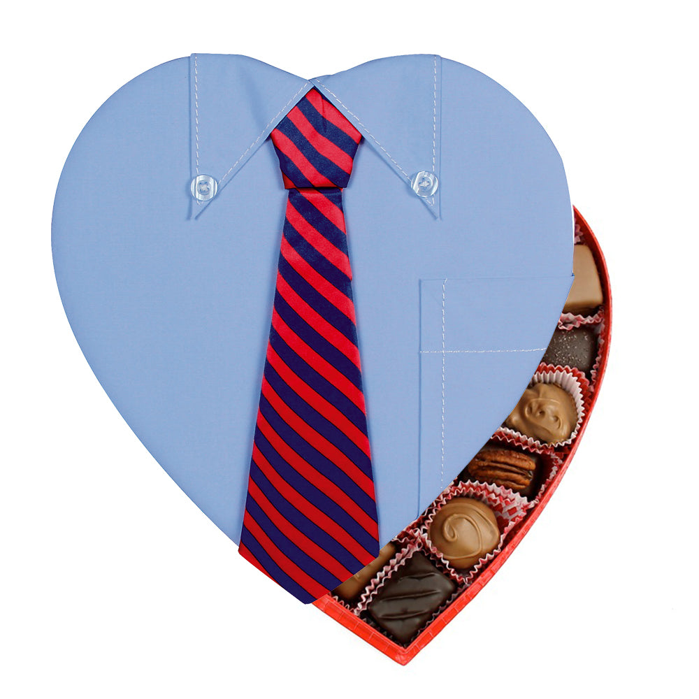 Men's Shirt Fabric Heart Box (1lb)