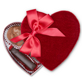 Red Velvet Heart Box (2 oz) - Edelweiss Chocolates