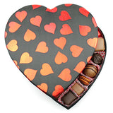 Amour Fabric Heart Box - Edelweiss Chocolates Gourmet Premium Milk Dark Chocolate Gift Los Angeles Beverly Hills Handmade Handcrafted Candy
