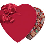 Red Velvet Heart Box (2lb) - Edelweiss Chocolates Gourmet Premium Milk Dark Chocolate Gift Los Angeles Beverly Hills Handmade Handcrafted Candy