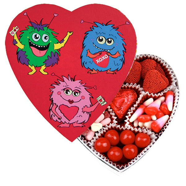 Monster Heart Box filled with Candies (4 oz) - Edelweiss Chocolates