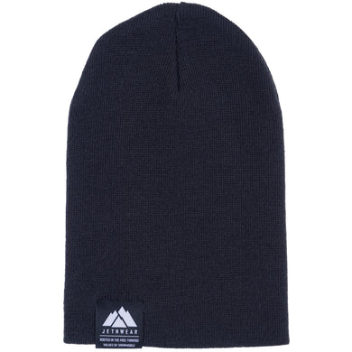 Fold Up Beanie Black