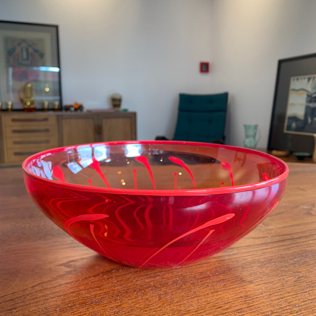 'Lynden Over' Red Glazed Bowl