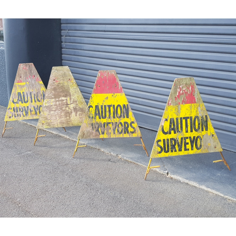 'Caution Surveyors' Signs