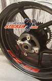 Wheel-Stripes Yamaha FZ-09 curve interior rim stickers [WS3F9]