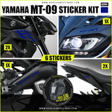 Custom Yamaha MT-09 sticker decals package [KIT01]