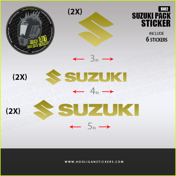 Suzuki fairing decals sticker set [SI02]