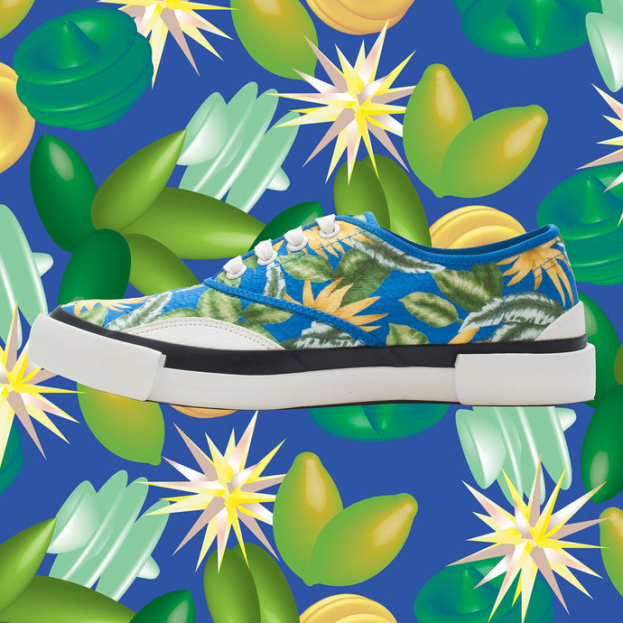 Inka Sneaker Jungle Blue - Low sole