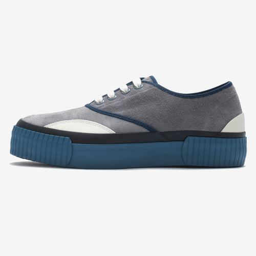Inka Sneaker Ribbed Sole Grey/D Blue
