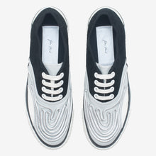 Load image into Gallery viewer, Inka Sneaker Ribbed Sole Black Silver