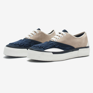 Inka Sneaker Ribbed Sole Beige / Navy