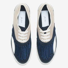 Load image into Gallery viewer, Inka Sneaker Ribbed Sole Beige / Navy