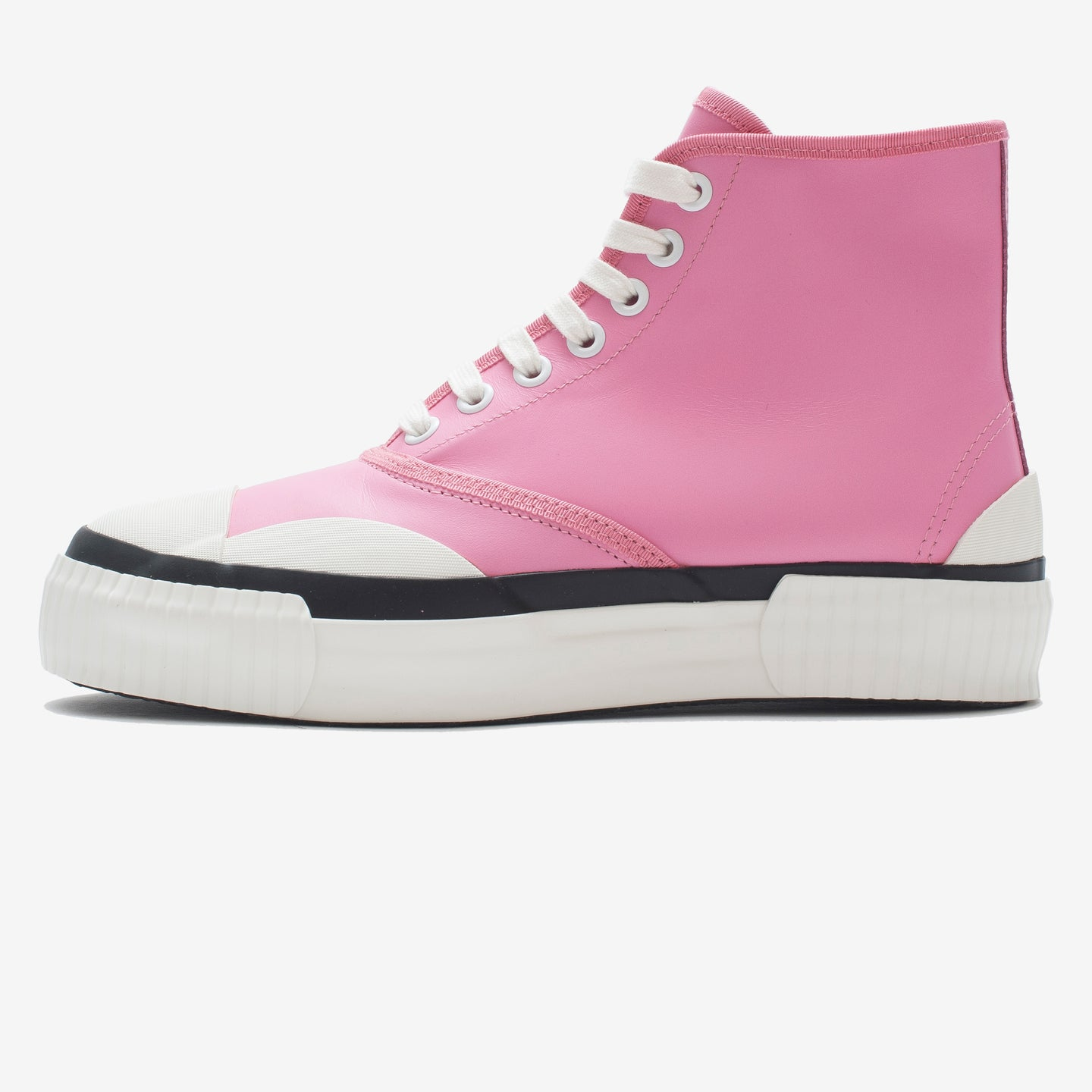 Inka Sneaker Ribbed Sole Pink - Hi-top