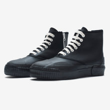 Load image into Gallery viewer, Inka Sneaker Ribbed Sole Black - Hi-top