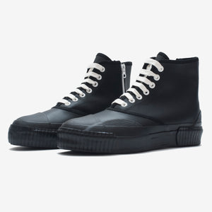Inka Sneaker Ribbed Sole Black - Hi-top