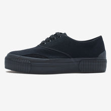 Load image into Gallery viewer, Inka Sneaker Ribbed Sole Black Felt
