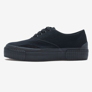 Inka Sneaker Ribbed Sole Black Felt