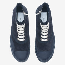 Load image into Gallery viewer, Inka Sneaker Ribbed Sole Navy - Hi-top