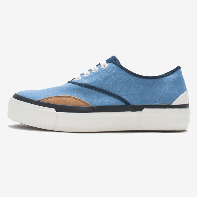 Inka Sneaker Ribbed Sole Blue Denim