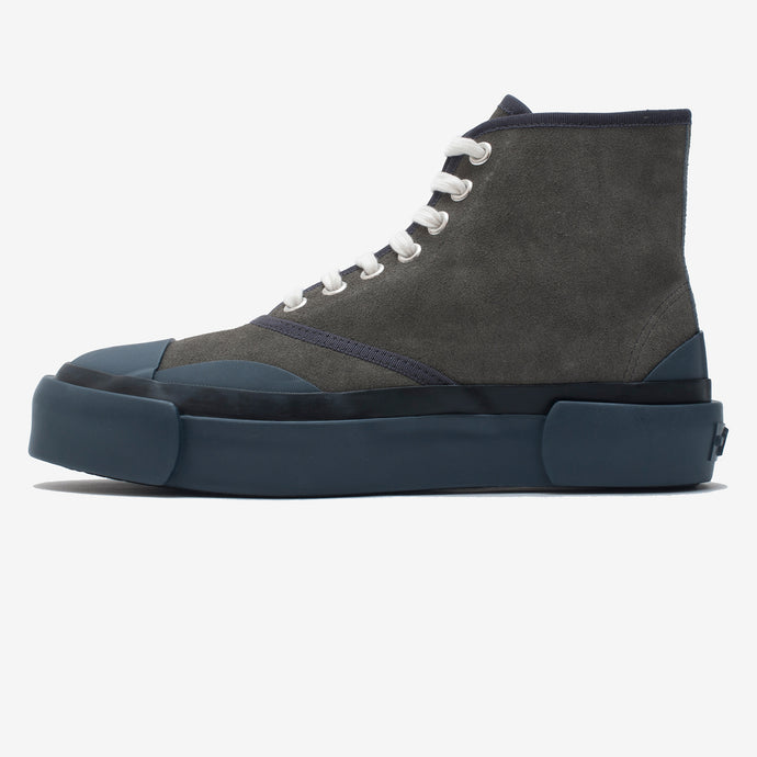 Inka Sneaker Grey/Blue Suede - Hi-top
