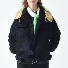 Load image into Gallery viewer, Wool Mohair Belted Jacket - Black