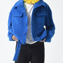 Load image into Gallery viewer, Soft Wool Belted Jacket - Cobalt