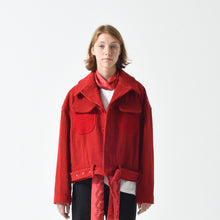 Load image into Gallery viewer, 🔖 Jumbo Corduroy Belted Jacket - Red 50% OFF