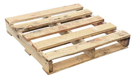 "Recycled Wood Pallet 30 x 30 x 5 1/2"" - An economical way to protect, store or move products. Tough, durable wood is stackable and reusable. Fork Access: 2-way Entry. Weight Capacity: 1,200 Ibs."