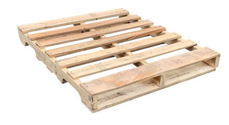 "48"" X 40"" Recycled Wood Pallet  #1 - An Economical way to move, store or protect products. Tough, durable wood is stackable and reusable. Perfect for business or individuals who require the cleanest used pallets. Fork Access: 4-Way Entry. Weight Capacity: 2,500 Ibs. Capacity."