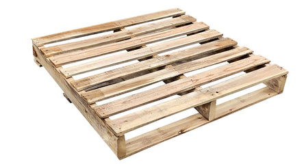 "36"" x 36"" Recycled Wood Pallet - An Economical way to move, store or protect products. Tough, durable wood is stackable and reusable. Fork Access: 2-Way Entry. Weight Capacity: 1.500 Ibs."