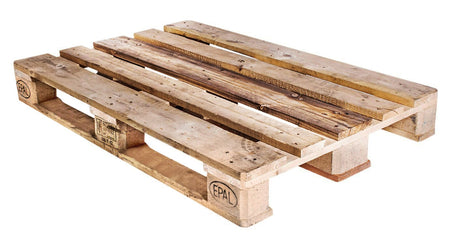 Euro/Epal Recycled Wood Pallet - An Economical way to move, store or protect products. Tough, durable wood is stackable and reusable. Fork Access: 4-Way Entry. Top Boards: 5. Bottom Boards: 3.
