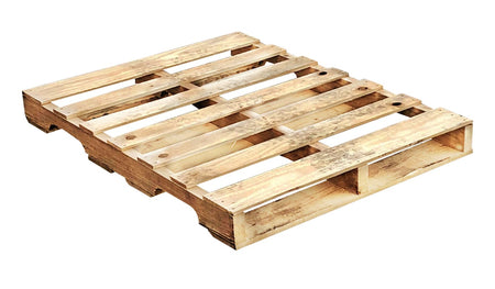 "Recycled Wood Pallet 48 x 36 x 5 1/2"" - An economical way to protect, store or move products. Tough, durable wood is stackable and reusable. Fork Access: 4-way Entry. Weight Capacity: 1,500 Ibs. Deck-board Specifications: 7 boards on top, 4 boards on bottom and 3 stringer."