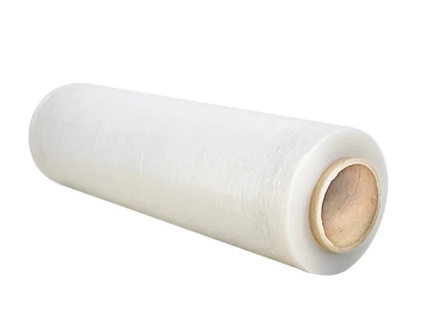 "18"" x 80 Gauge x 1500' Blown Hand Stretch Film (4 Rolls/Case)"