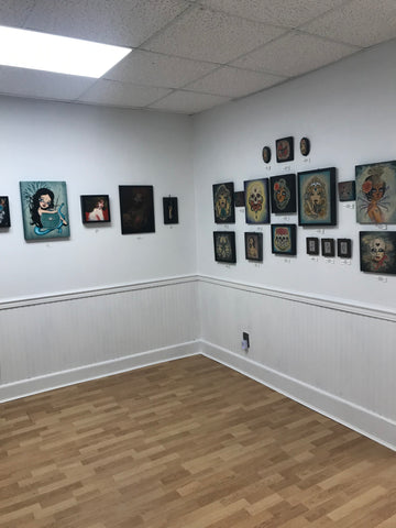 Gallery scene from the Pure Magick! Show at Artwhirl Gallery in Long Beach, New York. Long Island, New York.