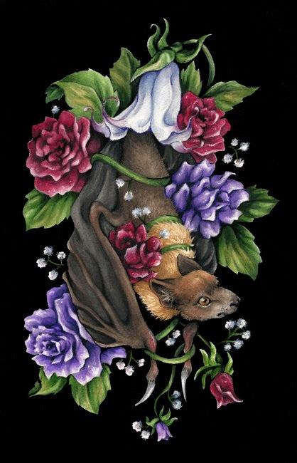 "Stephanie Stevenson- ""Forbidden Fruit Bat"" Print"
