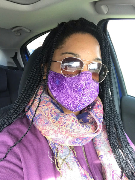 Purple Sprinkles Mask