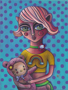 "Rossella Paolini - ""Kitty Mom"" Print"