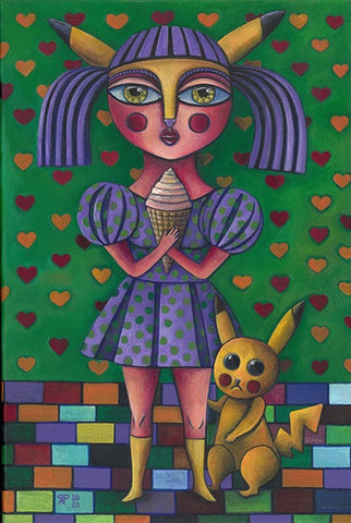 "Rosella Paolini - ""My Ice Cream"" Print"