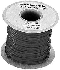 18 Ga Flexible Stranded Wire-Single Conductor [100 Ft, Black]