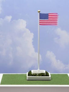 Waving American Flag with 48 Stars O Scale