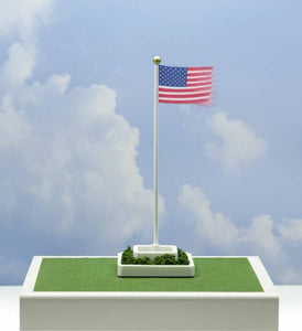 Waving American Flag with 50 Stars O Scale