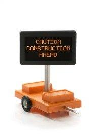 Caution Construction Ahead O Scale